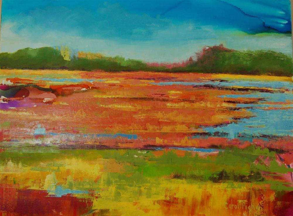 """Abstract Marsh II"" original fine art by Carol Pighin"