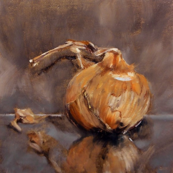 """Root Challenge Shallot Or Shall I Not"" original fine art by Dalan Wells"