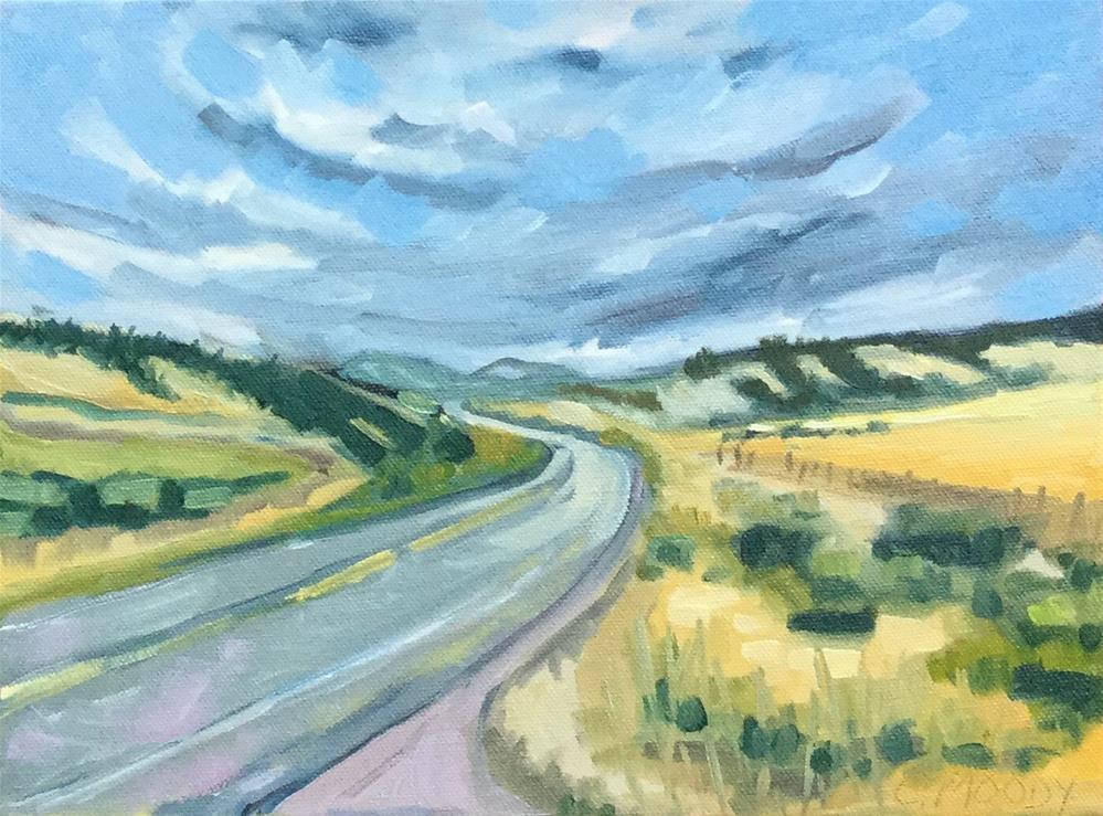 """Jackson, Wyoming"" original fine art by Cheryl Moody"