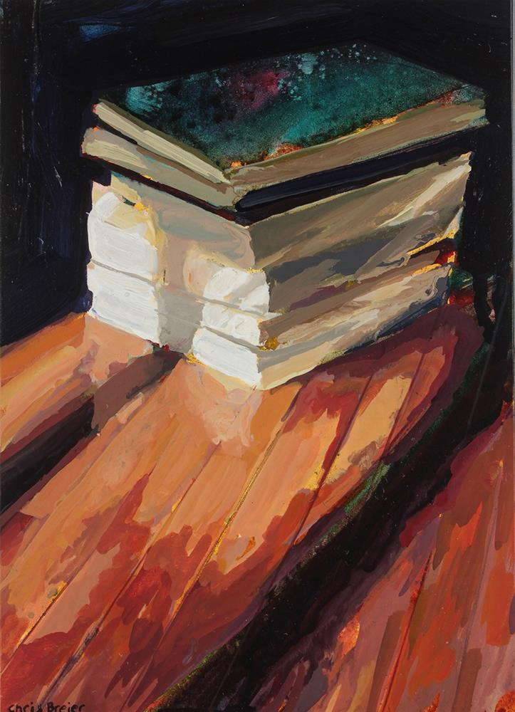"""Books I"" original fine art by Chris  Breier"