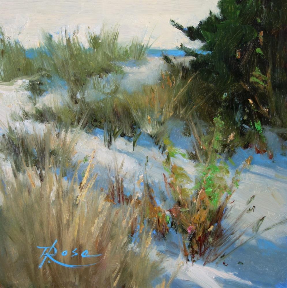 """bar beach 3"" original fine art by Howard Rose"