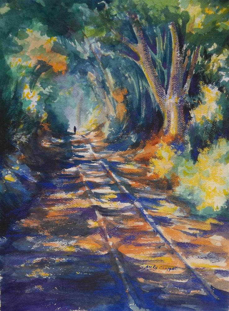 """""""Light at the End of His Life"""" original fine art by Becky Chappell"""