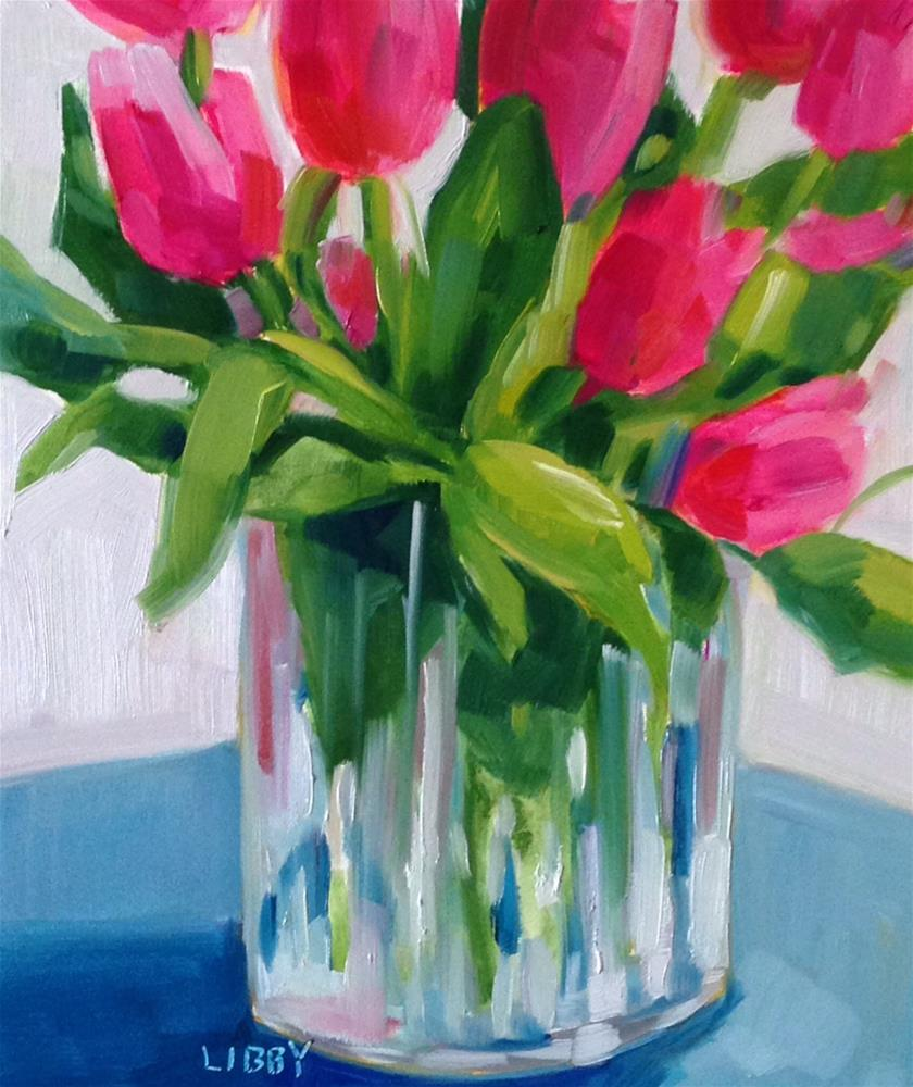 """Sunday Tulips"" original fine art by Libby Anderson"