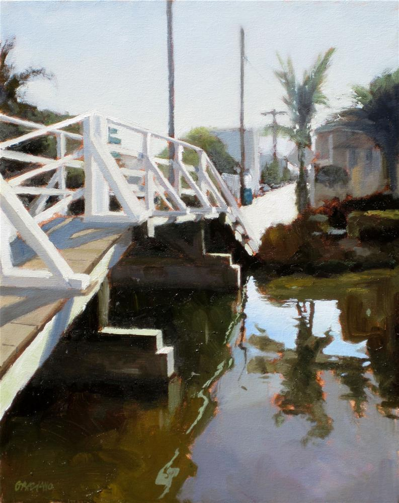 """bridge on the canal"" original fine art by Dan Graziano"