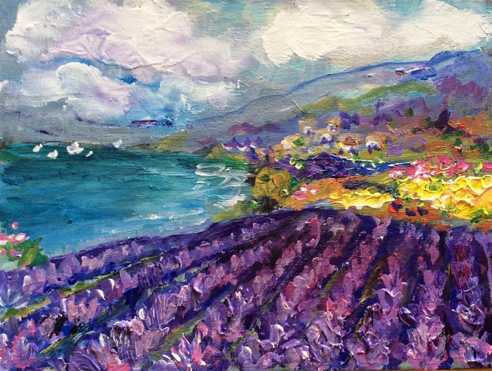 """""""Provence moment"""" original fine art by Sonia von Walter"""