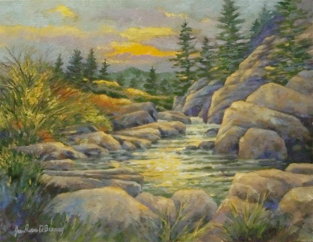 """11 mile canyon Sunset"" original fine art by Jean Pierre DeBernay"