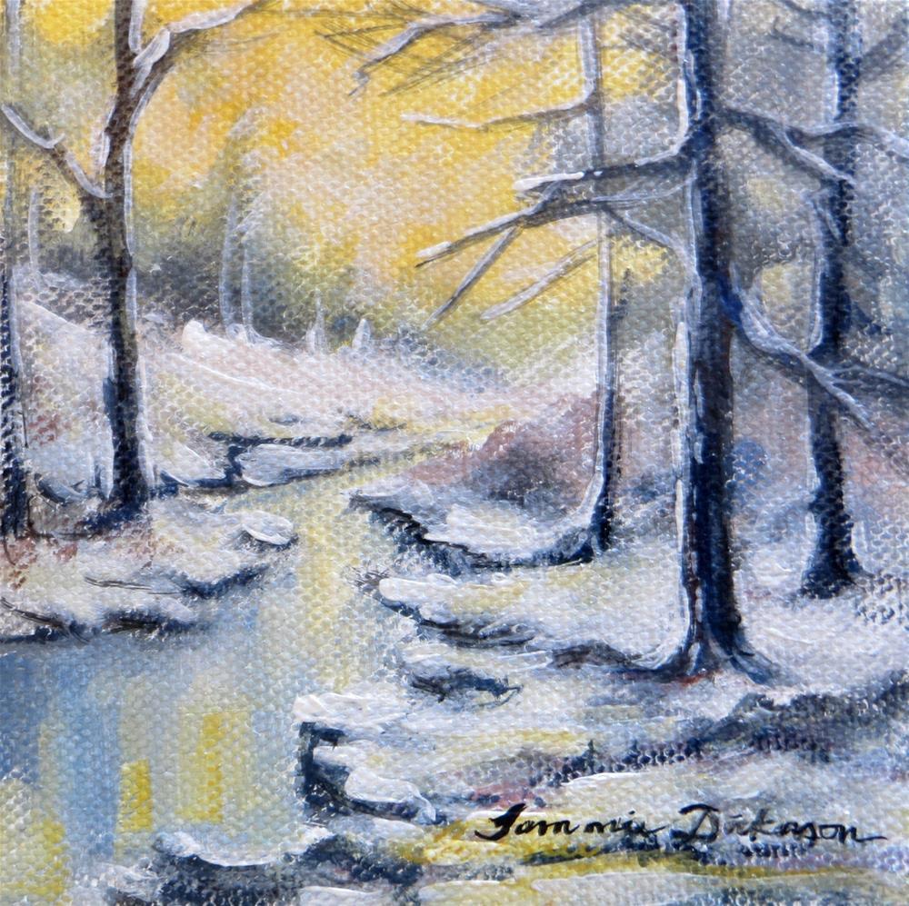 """Dust of Snow"" original fine art by Tammie Dickerson"
