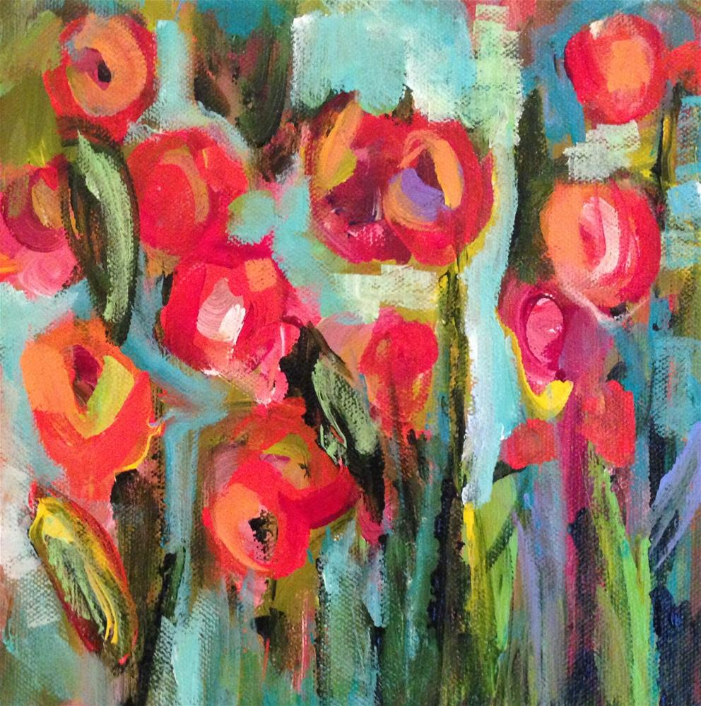 """Floral Figment"" original fine art by Molly Wright"