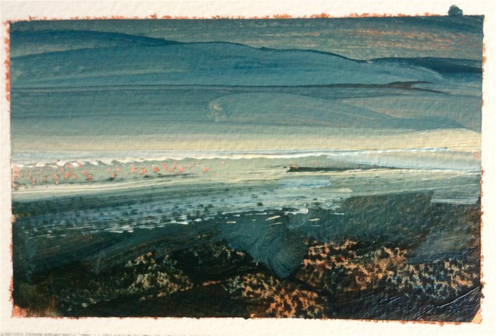 """White Night 2."" original fine art by Anne Wood"