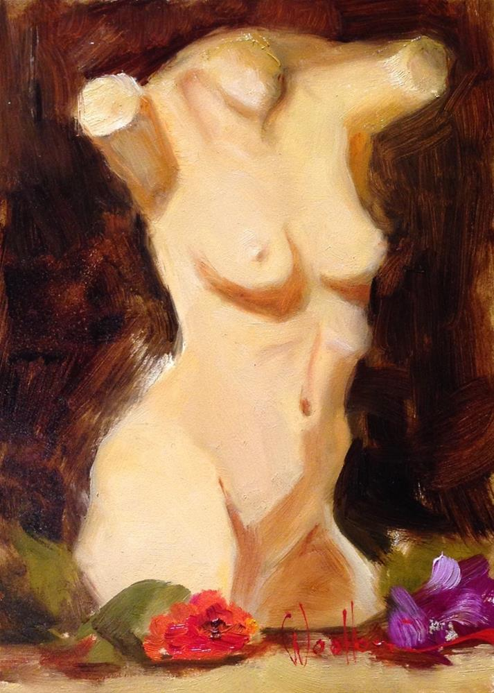 """Torso Cast"" original fine art by Dorothy Woolbright"
