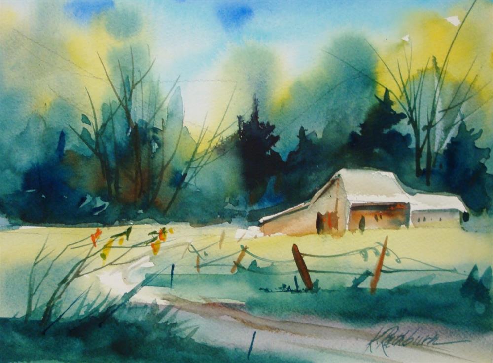 """greens....class demo"" original fine art by Kathy Los-Rathburn"