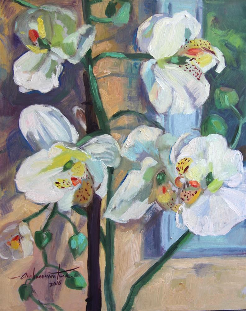 """Orchids"" original fine art by Ann Buenaventura"