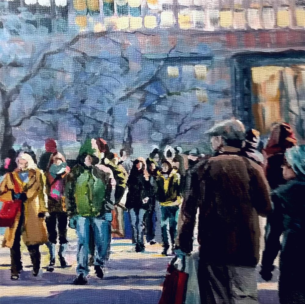 """Cold Chicago Winter Day"" original fine art by Liz Maynes"