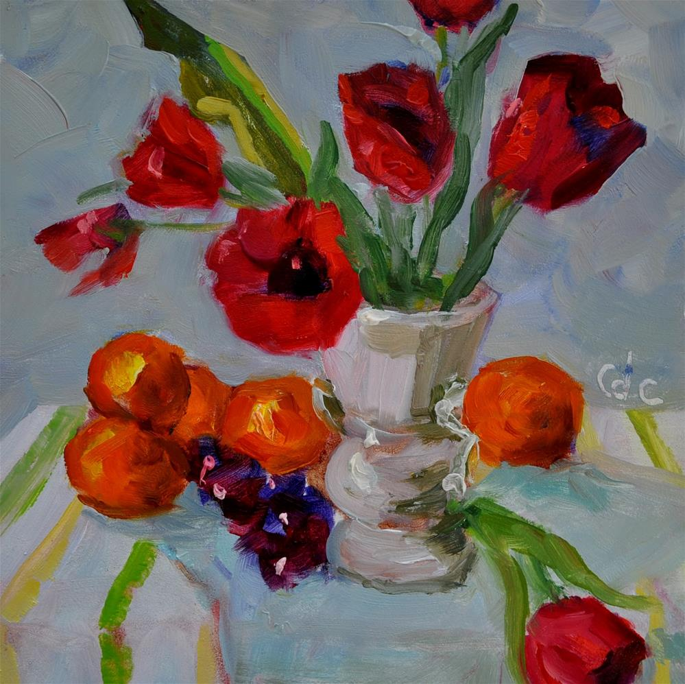 """Florial Still Life Challenge"" original fine art by Catherine Crookston"