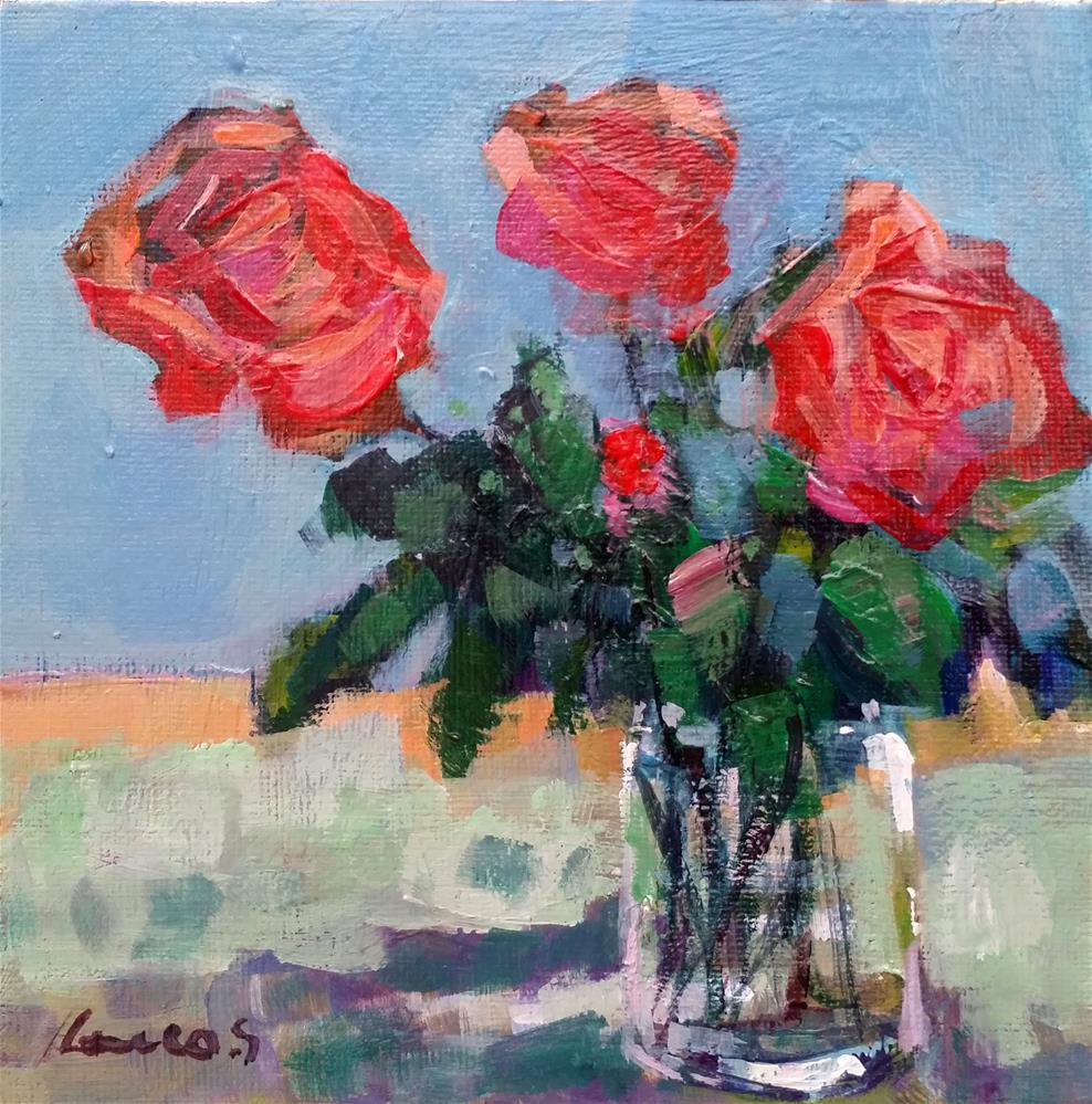 """roses"" original fine art by salvatore greco"