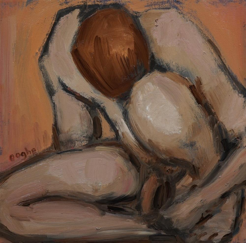"""Nude in Square"" original fine art by Angela Ooghe"
