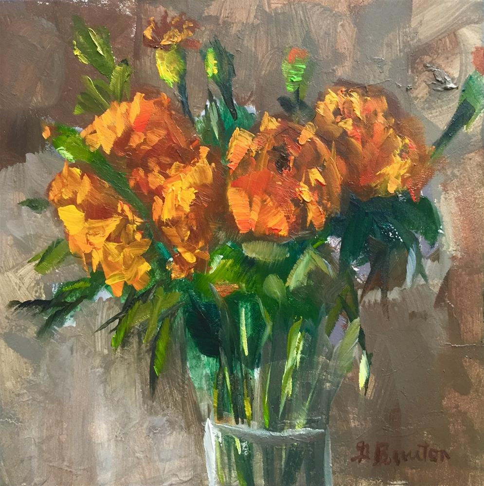 """Marigolds"" original fine art by Gary Bruton"