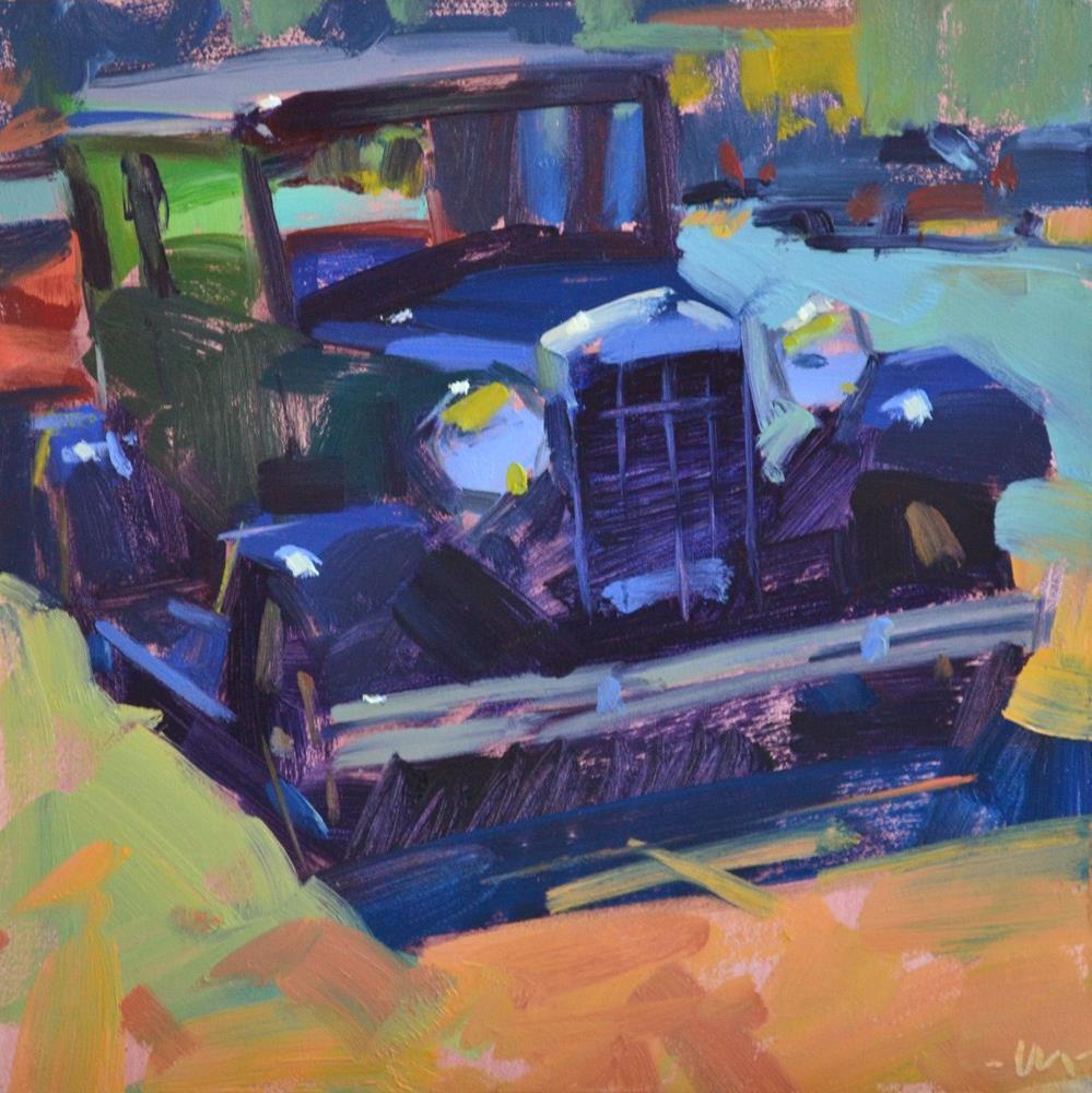 """Carstalgia"" original fine art by Carol Marine"