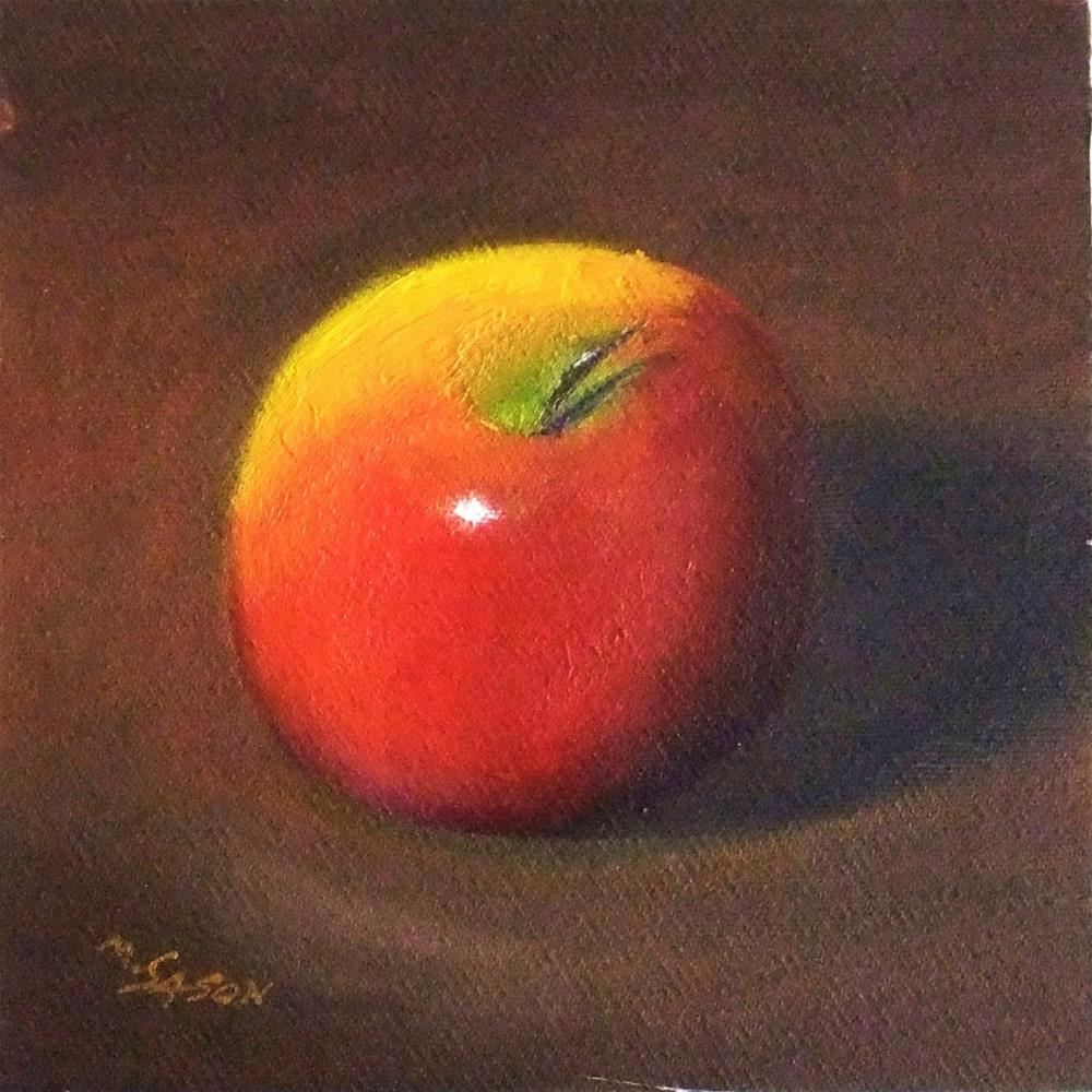 """One apple"" original fine art by Michael Sason"