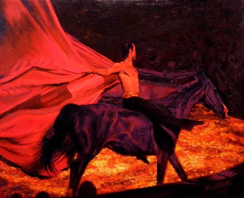 """Circus Flora Horse Act II"" original fine art by Daniel Fishback"