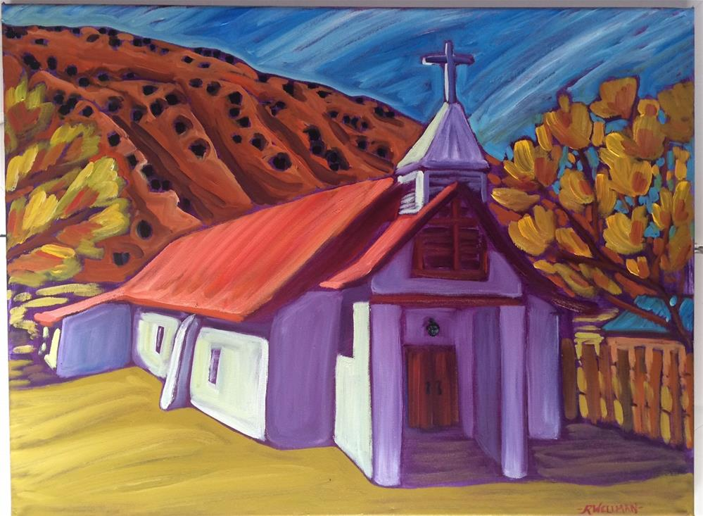 """Pilar church"" original fine art by Robyn Wellman"