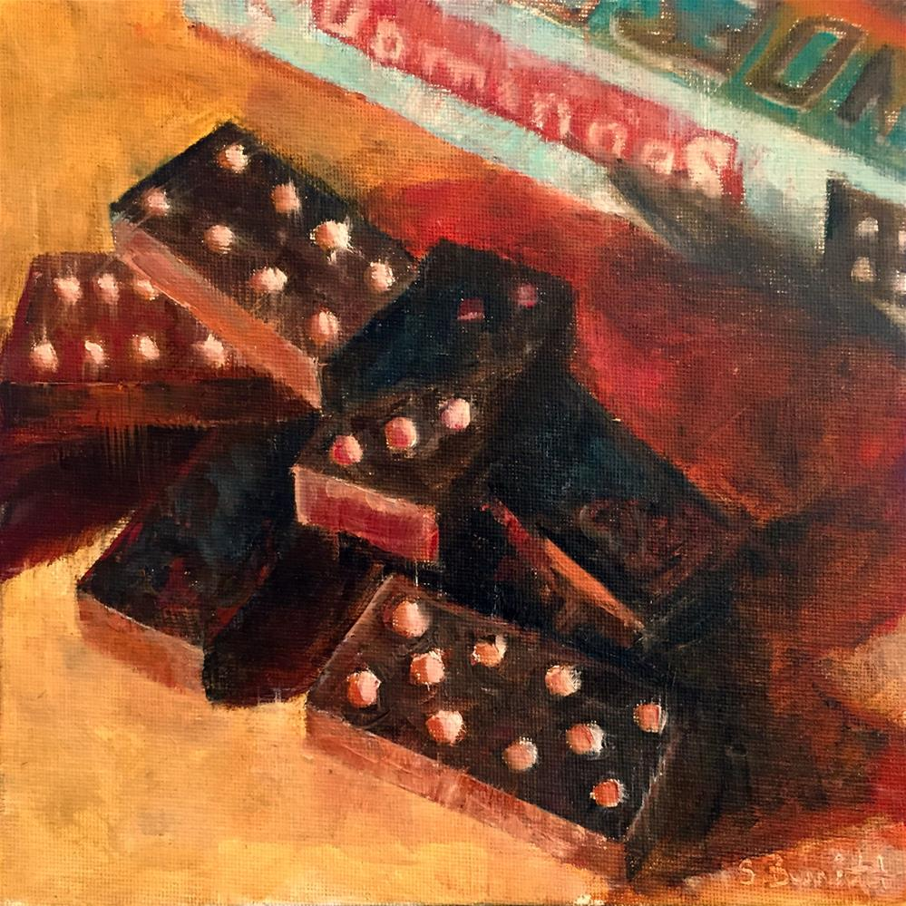 """The Domino  Effect"" original fine art by Sherri Burritt"