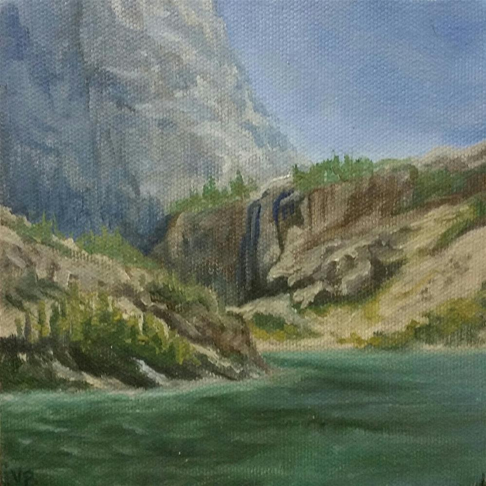 """Emerald Lake"" original fine art by Veronica Brown"
