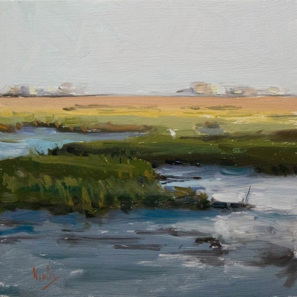 """Shadows on Marshland"" original fine art by Randall Cogburn"