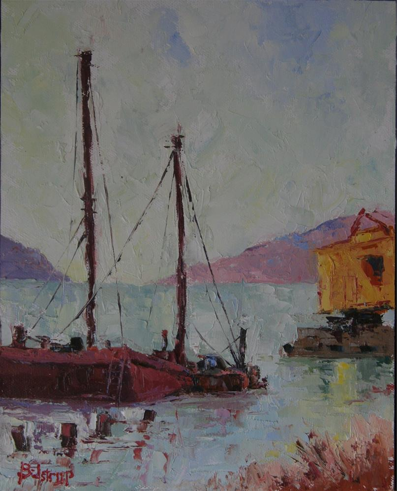 """Dilapidated Wharf (Benicia)"" original fine art by Mark Bidstrup"