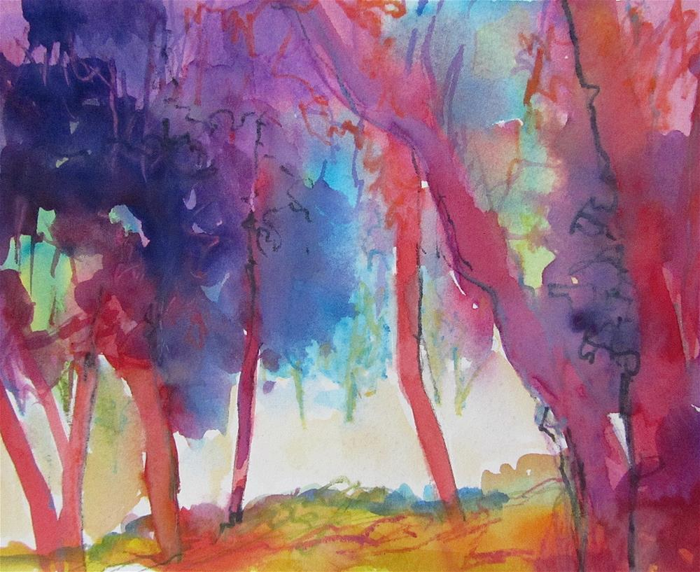 """Trees at Les Bassacs"" original fine art by Patricia MacDonald"