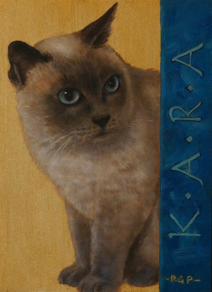 """Kara, the kitten"" original fine art by Rhea  Groepper Pettit"