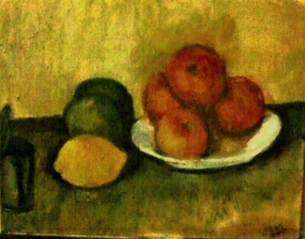 """Apples aft Cezanne"" original fine art by Fred Medley"