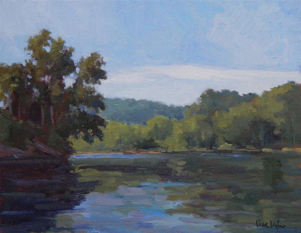 """First Morning on the River"" original fine art by Lisa Kyle"