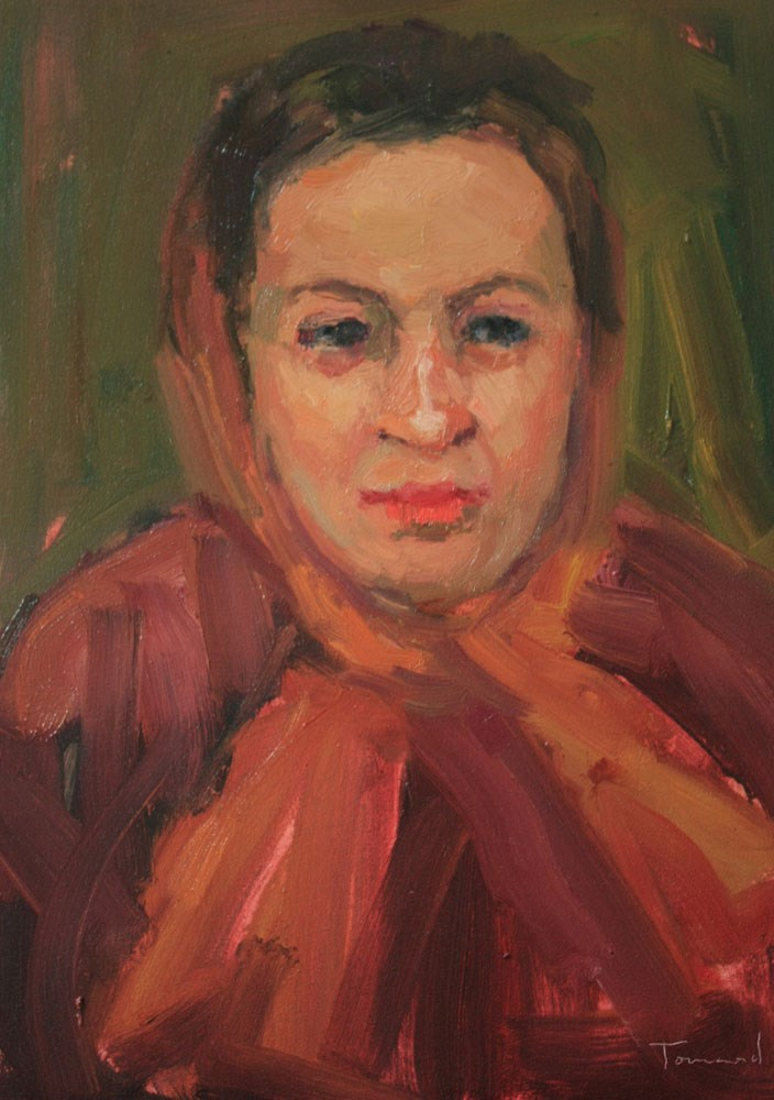 """Portrait Study #30"" original fine art by Kathryn Townsend"