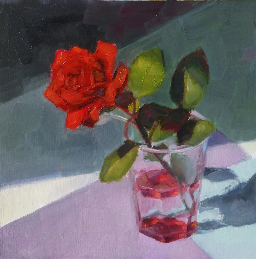 """""""Red rose"""" original fine art by Maria Z."""