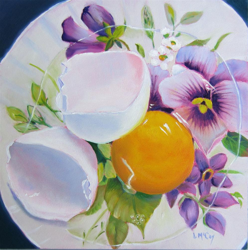 """Raw Emotion, Oil Painting of Egg by Linda McCoy"" original fine art by Linda McCoy"