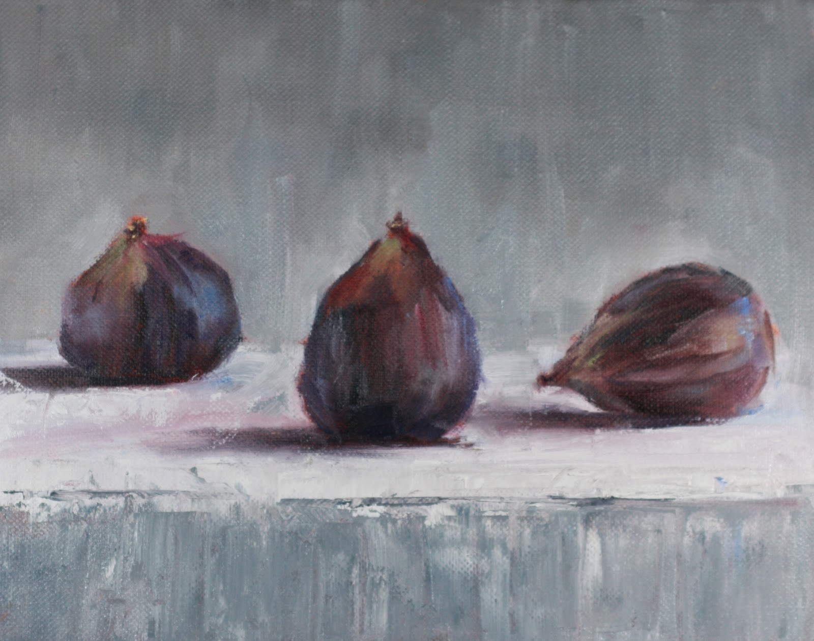 """Still Life The Three Little Figs No.3"" original fine art by Carrie Venezia"