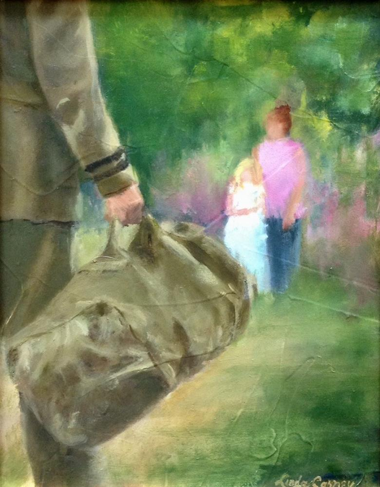 """Coming home"" original fine art by Linda Carney"