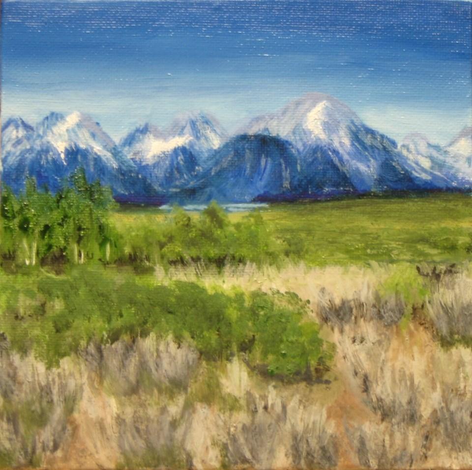 """Moose Country"" original fine art by C J Schwarz"