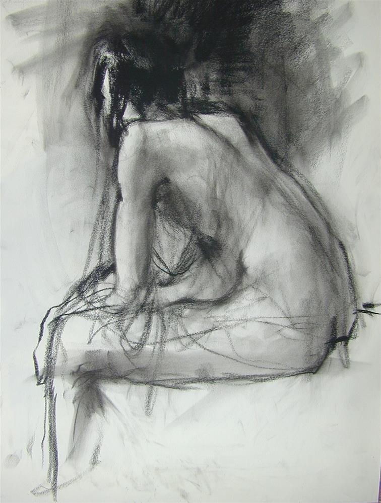 """model's back"" original fine art by Christine Bayle"