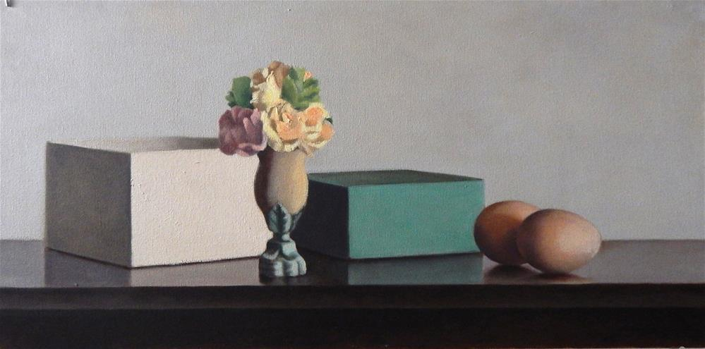"""Still Life with Green Box"" original fine art by Megan Schembre"