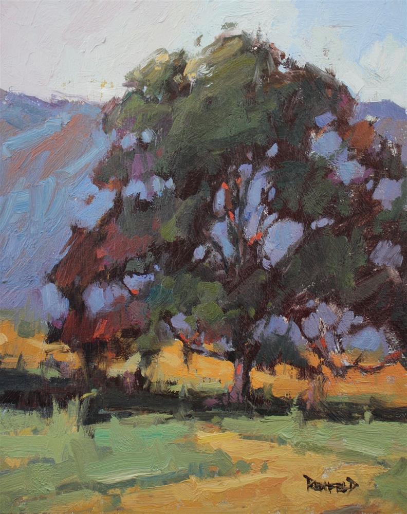 """Mountains Peeking Throough"" original fine art by Cathleen Rehfeld"