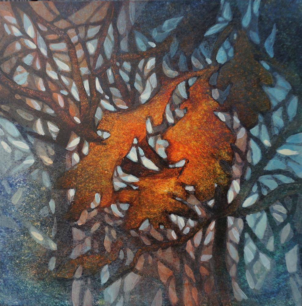 """Oak Leaves"" original fine art by Larisa Nikonova"