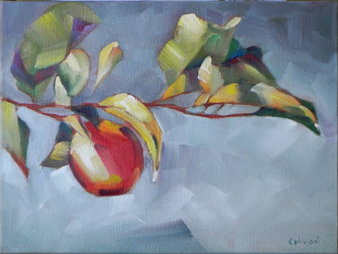 """Red Apple Branch"" original fine art by Cheryl Wilson"