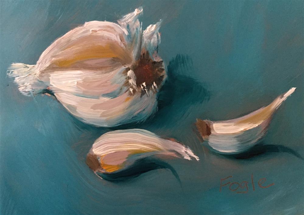 """""""15-12 Just a Little Garlic"""" original fine art by Rachel Fogle"""