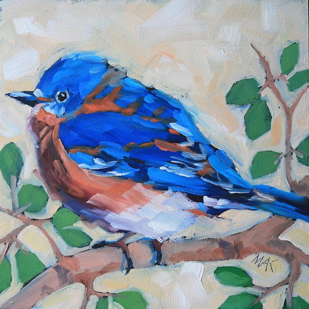 """Mr. Blue"" original fine art by Mary Anne Cary"