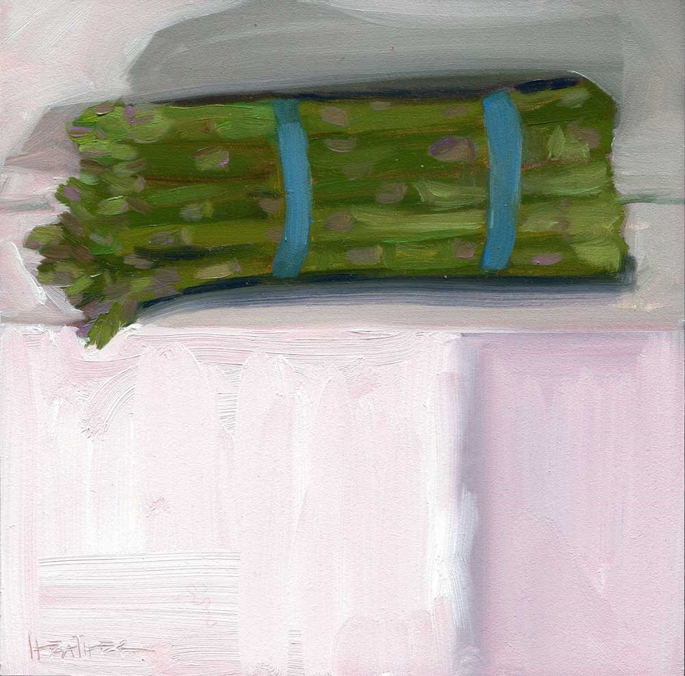 """Asparagus on the Side"" original fine art by Heather Bennett"