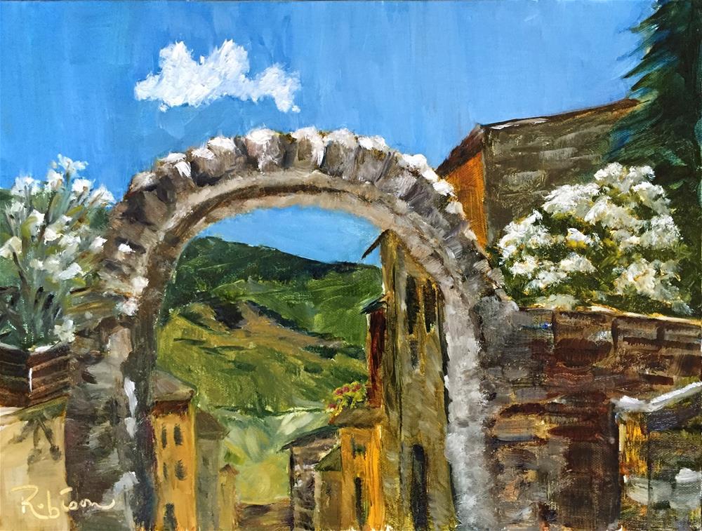 """Spello Roman Arch"" original fine art by Renee Robison"