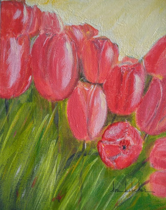"""Flower 0003 - Tulips"" original fine art by Lou Belcher"