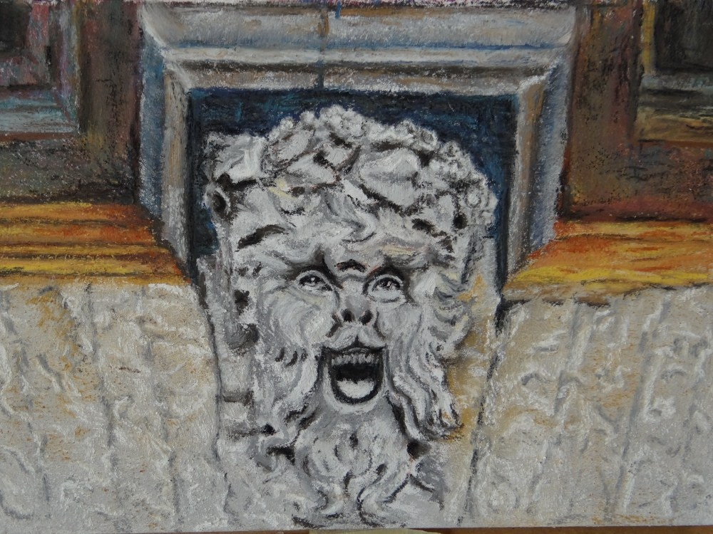 """Orvieto Gargoyle"" original fine art by Denise Beard"